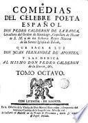 Comedias de Pedro Calderón de la Barca, 8