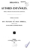 Comedias escogidas de Don Francisco de Rojas Zorrilla