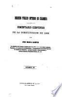 Comentario cientifico de la Constitución de 1886