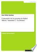 Comentario de los poemas de Rafael Alberti, Amaranta y La Paloma