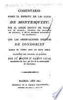 Comentario sobre el Espiritu de las leyes de Montesquieu