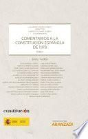 Comentarios a la Constitución Española de 1978 - Tomo I