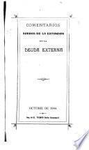 Comentarios acerca de la extincion de la deuda externa