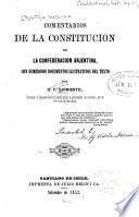 Comentarios de la Constitución de la Confederacion Arjentina