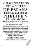 Comentarios de la guerra de España e historia de su rey Phelipe V., el Animoso, 1