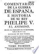 Comentarios de la guerra de España ...