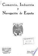 Comercio, industria y navegación de España