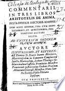 Commentarii in tres libros Aristotelis de anima iuxta subtilis doctoris Ioannis Duns Scoti mentem