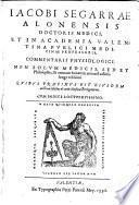 Commentarii physiologici ... Quibus praefixus est eiusdem auctoris libellus de artis mediciae prolegomenis