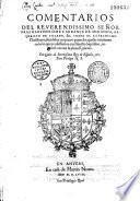 Commentarios... sobre el catechismo christiano...