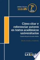 Cómo citar y referenciar autores en textos académicos universitarios