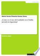¿Como es el uso del Lunfardo en el habla juvenil en Argentina?