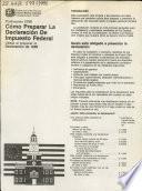 Cómo preparar la declaración de impuesto federal