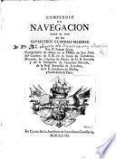 Compedio de Navegacion para el uso de los Cavalleros Guardias Marinas