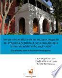 Compendio analítico de los trabajos de grado del Programa académico de fonoaudiología, Universidad del Valle, 1996-2008