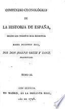 Compendio cronologico de la historia de España, etc