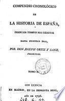 Compendio cronológico de la historia de España