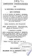 Compendio cronológico de la historia eclesiástica