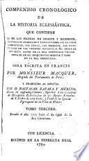Compendio cronológico de la historia eclesiástica...