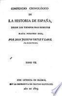 Compendio cronolónigo de la historia de España
