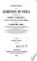 Compendio de dementos de fisica y de nociones de quimica inorganica. 2. ed