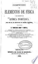 Compendio de elementos de física y de nociones de química inorgánica