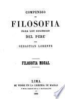 Compendio de filosofia para los colegios del Peru