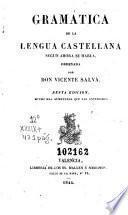 Compendio de la gramática castellana segun ahora se habla