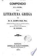 Compendio de la Historia de la Literatura Griega