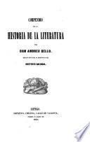 Compendio de la historia de la literatura