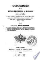 Compendio de la historia del derecho de la Iglesia en España