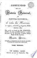 Compendio de la historia universal, ó, Pintura histórica de todas las naciones, 1