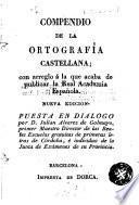 Compendio de la ortografía castellana