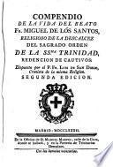 Compendio de la vida del beato Fr. Miguel de los Santos