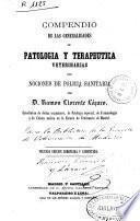 Compendio de las generalidades de patología y terapéutica veterinarias