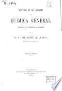 Compendio de las lecciones de química general explicadas en la Universidad de Barcelona