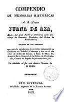 Compendio de memorias históricas de la Beata Juana de Aza madre del Gran ... Santo Domingo ... Va añadida al fin una devota Novena de la Beata
