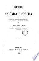 Compendio de retórica y poética, ó, Nociones elementales de literatura