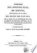 Compendio del derecho real de España