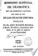 Compendio elemental de gramática de la lengua latina