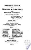Compendio elemental de historia universal