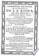 Compendio historial de la provincia de La Rioja, de sus santos y milagrosos santuarios
