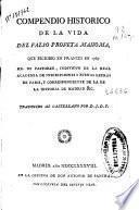 Compendio historico de la vida del falso profeta Mahoma