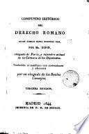 Compendio histórico del derecho romano