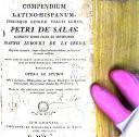 Compendium latino-hispanum utriusque linguae veluti lumen Petri de Salas