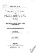 Compilación de las leyes del procedimiento civil boliviano