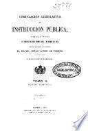 Compilación legislativa de Instrucción Pública