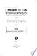 Compilación ordenada de leyes, decretos y mensajes del periodo constitucional de la Provincia de Tucumán