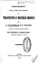 Complemento al Tratado de terapéutica y materia médica