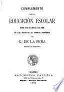 Complemento de la educación escolar